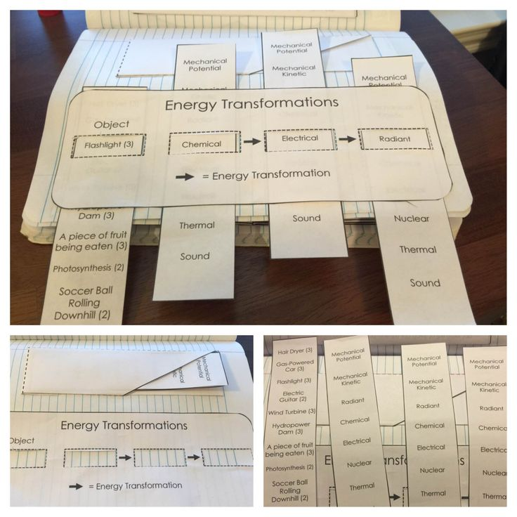 Energy Science Journal and Interactive Notebook Pages | Mad Science Lessons