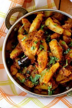 Pahari aloo recipe,or aloo gutke is a simple, rustic, flavorful Indian style potato stir fry subtly spiced with Indian spices #aloo #potato