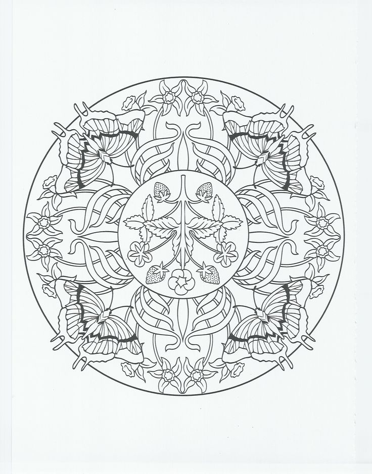 animal mandala butterfly Coloring Pages Coloring