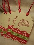 Scrapbook Christmas Gift Tags - Bing images