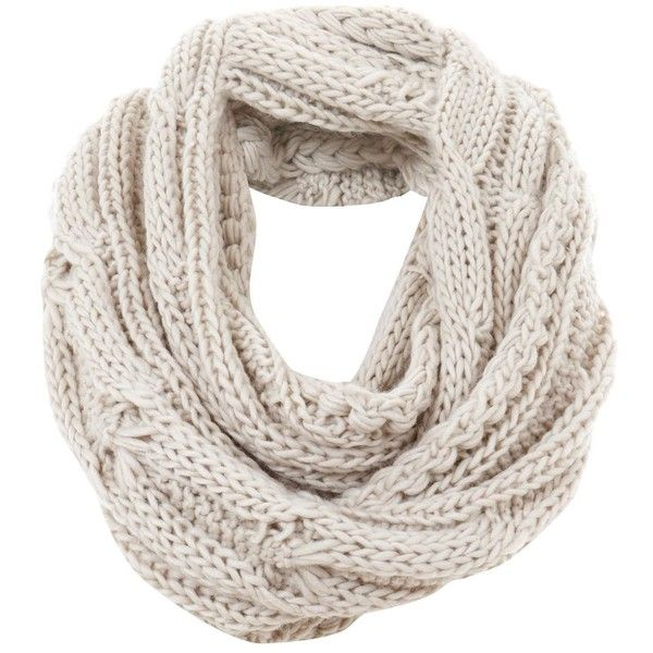 Mint Velvet Oatmeal Cable Long Snood ($42) ❤ liked on Polyvore featuring accessories, scarves, neutral, scarves & wraps, wrap shawl, cable knit shawl, oblong scarves, snood scarves and long scarves