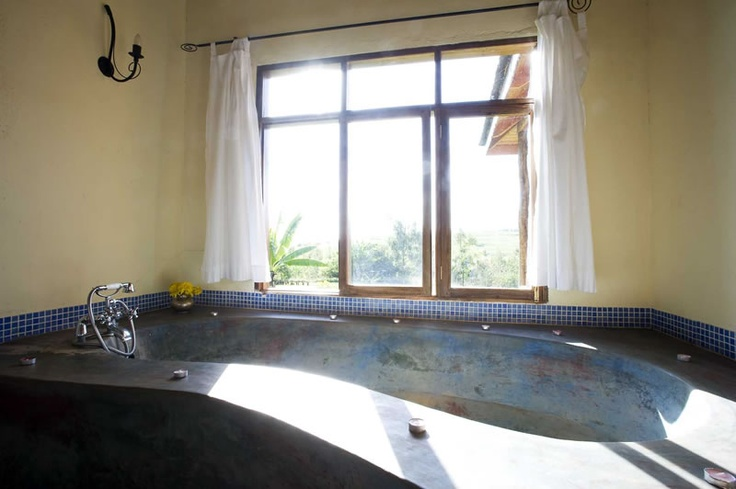HUGE concrete tub (could easily fit 4-5 adults), Ngorongoro Farm House, Tanzania, Africa