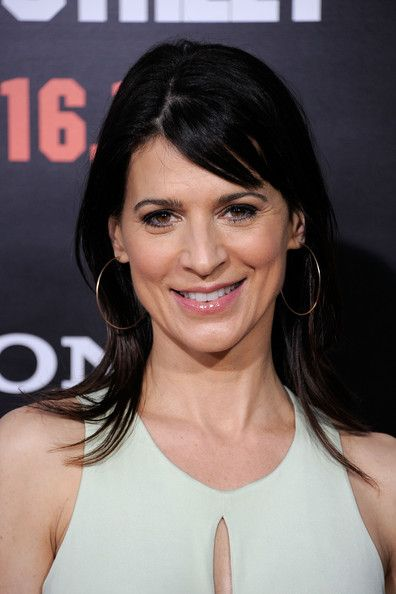 Perrey Reeves' Long Straight Cut with Bangs - Haute Hairstyles for Women Over 50 - StyleBistro