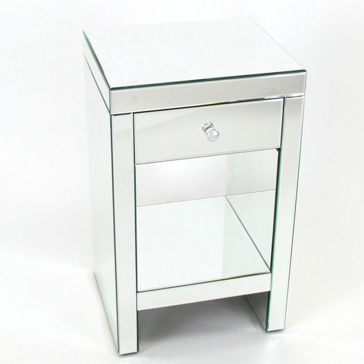 "$275 USD - Wayworn Beveled Mirror 1 Drawer Chest - 26""H x 16""W x 14""D"
