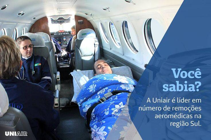 Atuamos 24h por dia com transporte aeromédico e táxi aéreo, sempre buscando excelência em nosso atendimento. Se precisar, voe Uniair. Saiba mais informações em nosso site: http://uniair.com.br/ ou ligue 0800 519 519.
