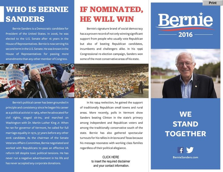 BNR - u0027Sanders May Set A Rally Record In Bostonu0027 \ u0027Why The Wash - political brochure