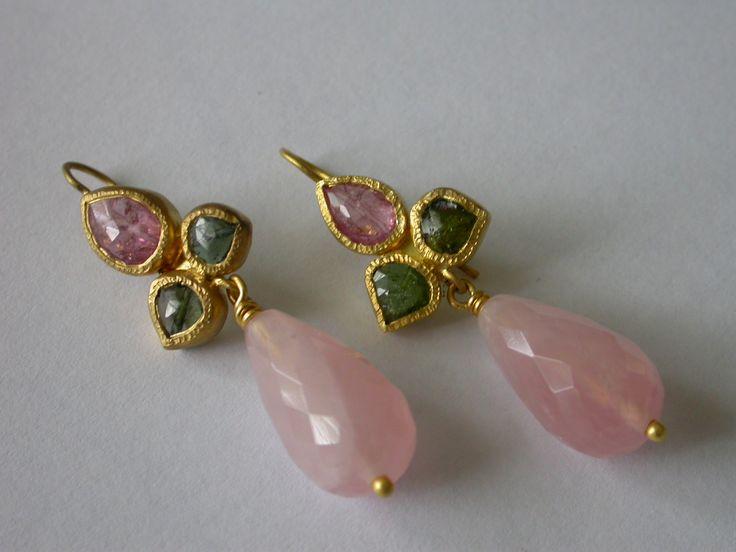 Pamela Harari's Moghul inspired Earrings in 22K Gold
