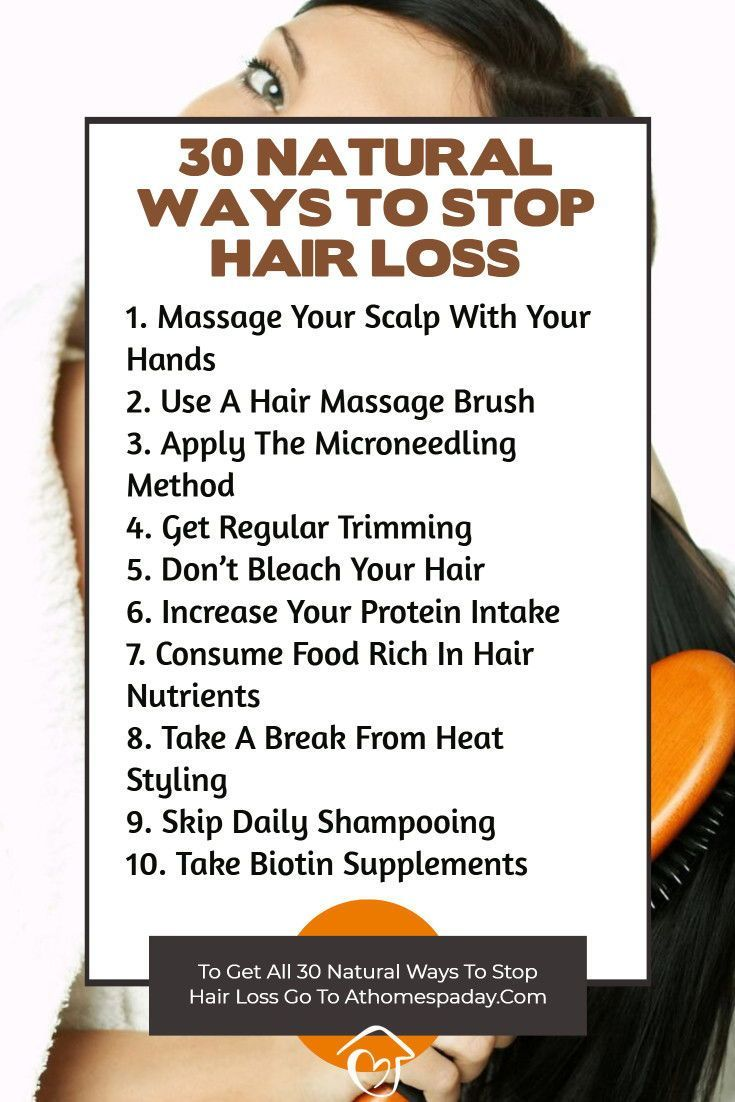 30 Natural Ways To Stop Hair Loss Easy Home Remedies Stop Hair