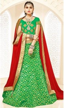 Lime Green Color Brocade A Line Style Party Ghagra Choli | FH494675814 #heenastyle, #designer, #lehengas, #choli, #collection, #women, #online, #wedding , #Bollywood, #stylish, #indian, #party, #ghagra, #casual, #sangeet, #mehendi, #navratri, #fashion, #boutique, #mode, #henna, #wedding, #fashion-week, #ceremony, #receptions, #ring , #dupatta , #chunni , @heenastyle , #Circular , #engagement ,#treditional