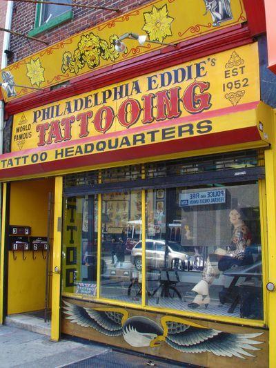 Philadelphia eddies shop he 39 s not there but still a nice for Philadelphia tattoo shops