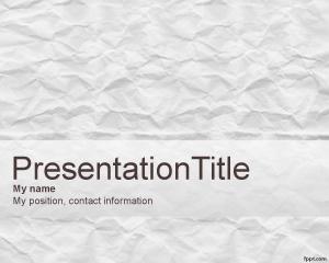 Fondo de papel arrugado es una diapositiva gratis para Power Point que puede descargar para presentaciones donde necesite un diseño de fondo gatis de PowerPoint con efecto de papel arrugado o efecto de fondo de papel