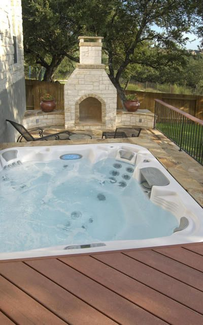 Hot tub with a fire pit/place nearby... and to never hear my husband complain about the power it wastes or money it costs. :)