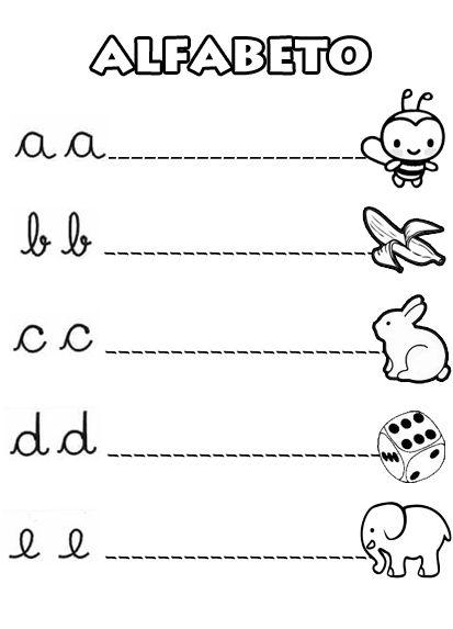 El abecedario en letra cursiva para imprimir - Imagui