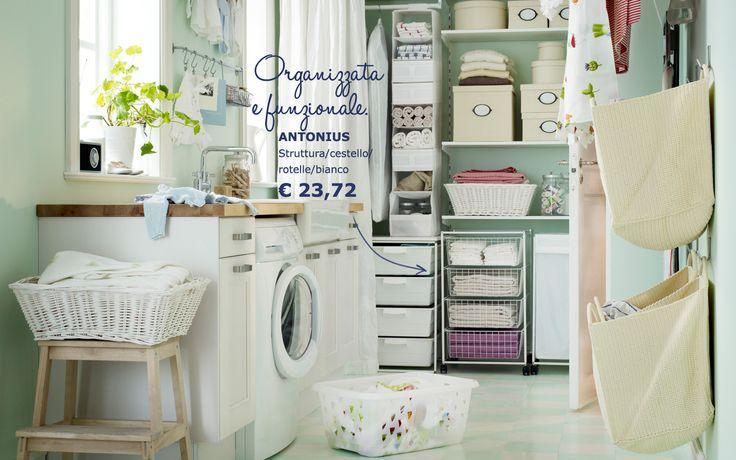 ... Pinterest  Armadio di utilità, Scaffali e Paniere della lavanderia