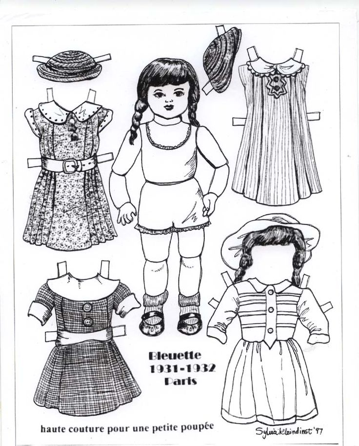 91 best Black White Paper Dolls images on Pinterest White