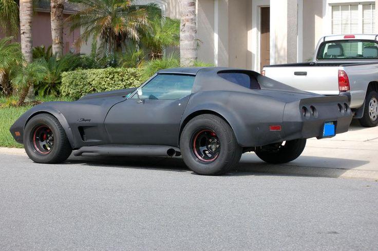 flat black Custom Corvette | ll post a few side views of my new rims later.
