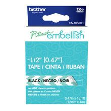 Brother™ P-touch Embellish Black on Mint Chevron Tape