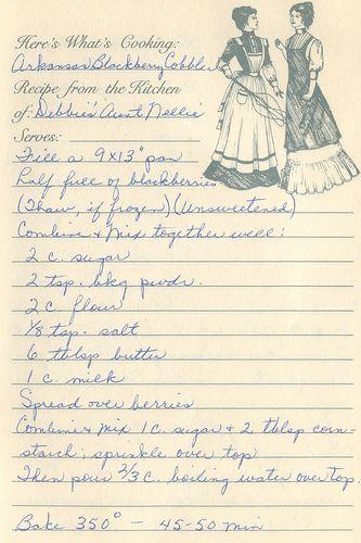 Vintage #Arkansas Blackberry Cobbler recipe