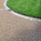 resin bonded gravel for the pathway leading to the front door