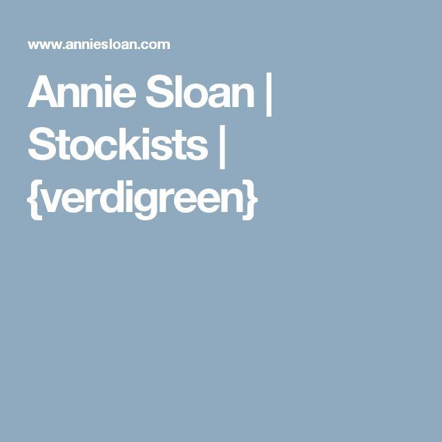 Annie Sloan | Stockists | {verdigreen}