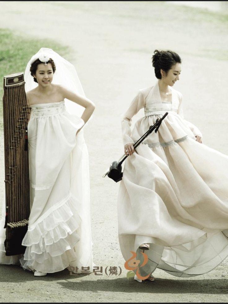 Fusion wedding fashion hanbok wedding korean and korean for Hanbok wedding dress