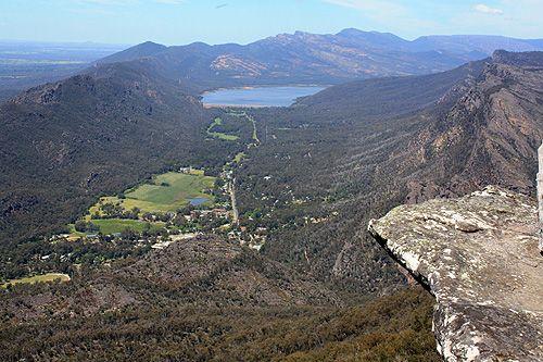 View of Halls Gap, Australia.