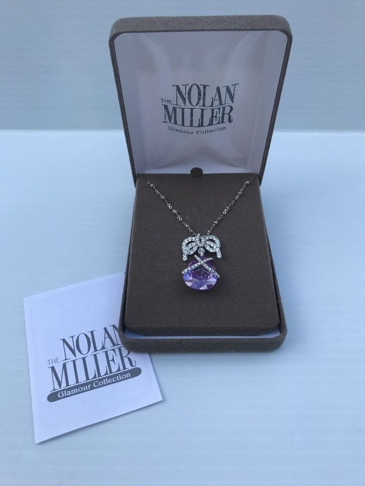 Nolan Miller Glamour Collection Wrapped In Luxury Purple Pendant Necklace New #NolanMiller #Pendant