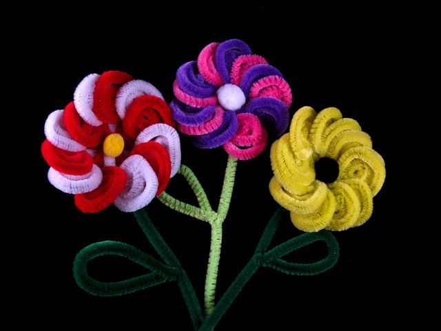 Pipe Cleaner Flowers by tiaragwin, via Flickr