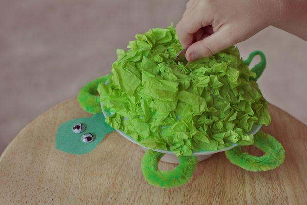 foam-bowl-turtle-piggy-bank-craft