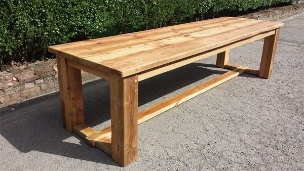 Clifton Square Reclaimed Pine Refectory Dining Table