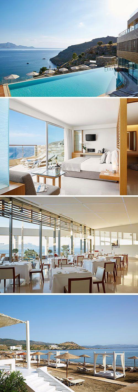 Voor een luxe vakantie onder de Griekse zon zit je goed in Lindos Blu Luxury Hotel & Suites op Rhodos. Dit vijfsterren hotel hanteert een adults only formule waardoor rust gegarandeerd is. Door de ligging net boven het strand heb je een schitterend uitzicht over de Vlicha baai en de Zuid-Egeïsche zee. De aanwezigheid van een infinity zwembad, een wellnesscentrum én gratis WiFi (tot op het strand!) maken jouw vakantie compleet!