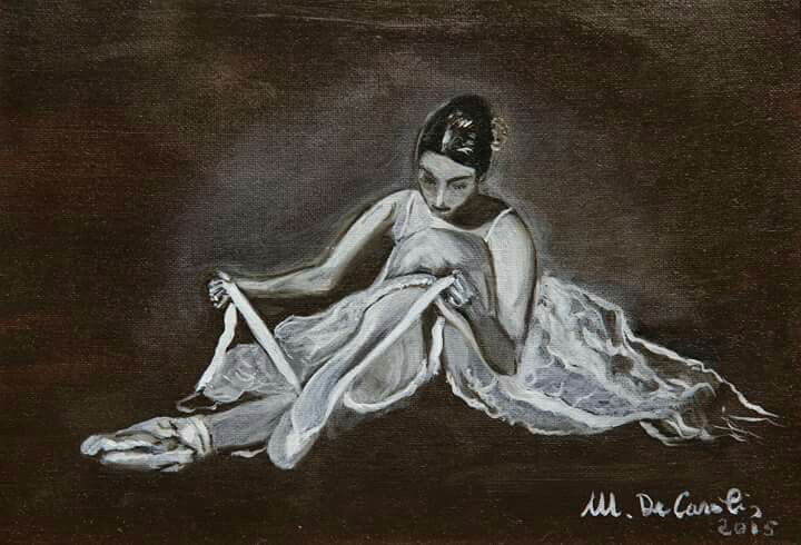 """Ballerina 2"" - olio su tela 18x24 - anno 2015"