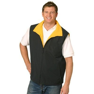 Unisex Reversible Corporate Vest Min 25 - One Side Polar Fleece Fabric & Other Shower Proof Micro Fibre. http://www.promosxchange.com.au/unisex-reversible-corporate-vest/p-11136.html