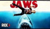 Vídeos Shark Week Slam: Aeron Jaws -  Toda quinta nas divulgações do canal Ride Channel, e esta semana é com o skatosta Aaron Jaws Homoki, como de costume o skatista profissional que é um dos maiores na parte do skate que cita grandes