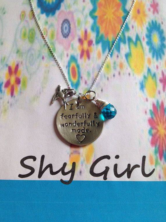 I am fearfully & wonderfully made. Necklace by ShyGirl87 on Etsy