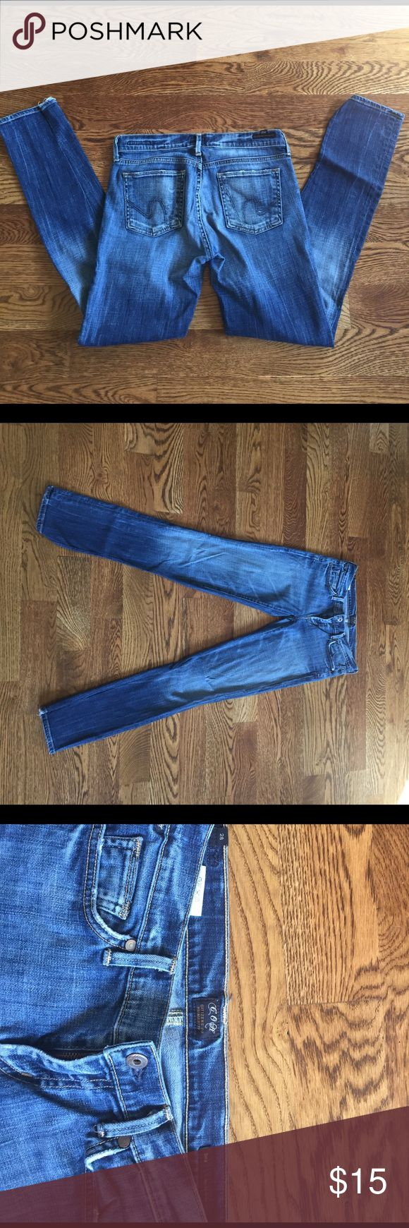Citizens of Humanity Dita Petite Jeans Citizens of Humanity Dita Petite Jeans. Used to be bootcut, but I had them professionally pegged into skinny jeans. Perfectly distressed. Citizens of Humanity Jeans Skinny