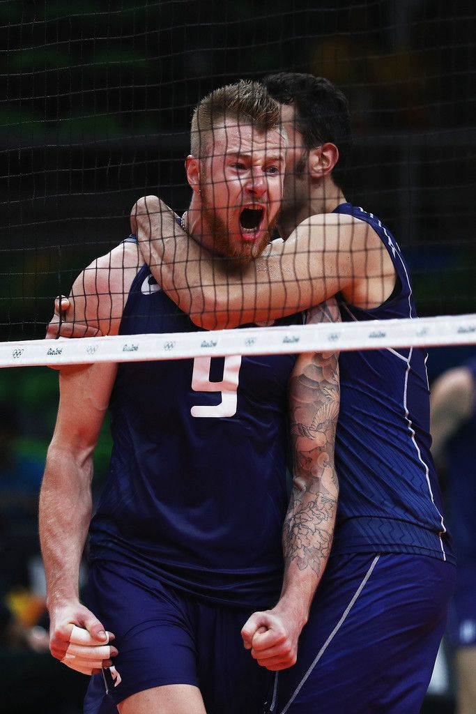 Ivan Zaytsev of Italy celebrates victory over the United States in the Men's Volleyball Semifinal match on Day 14 of the Rio 2016 Olympic Games at the Maracanazinho on August 19, 2016 in Rio de Janeiro, Brazil.