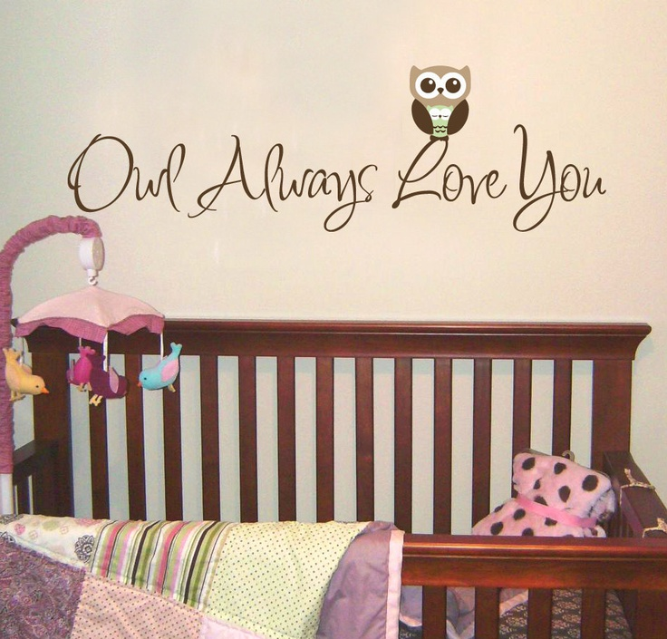 Children Owl Wall Decal for Nursery - Owl Always Love You Phrase - Removable Vinyl Decal. Etsy.