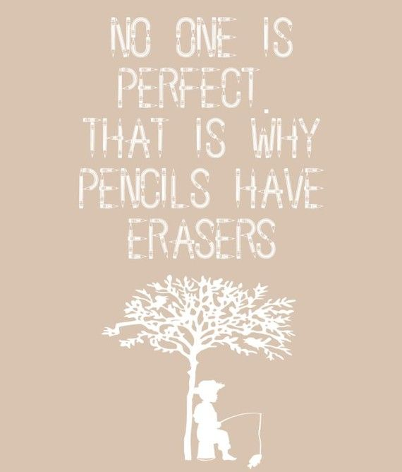 I tried to explain this to a child with Autism. Pencils have erasers because we…