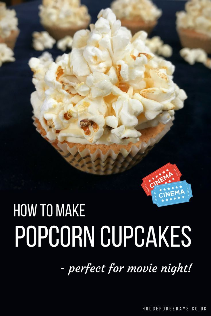 Recipe Popcorn Cupcakes Perfect For Movie Night Popcorn