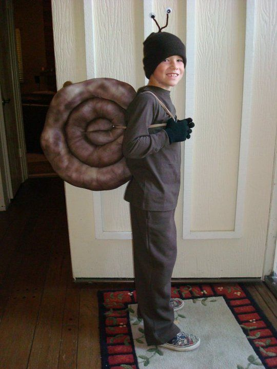 Snail costume. Potential to turn shell into the trick or treat container?