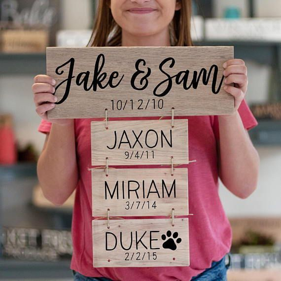 Family Names and Birthdays Farmhouse Style Sign #Personalized #FamilyName #FamilyEstablishedSign #Farmhouse #Rustic #Cottage #Family #FixerUpper #WoodenSign #Ad #HomeDecor #WallArt #FarmhouseDecor