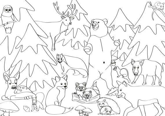 Ausmalbilder Waldtiere 04 Waldtiere Pinterest