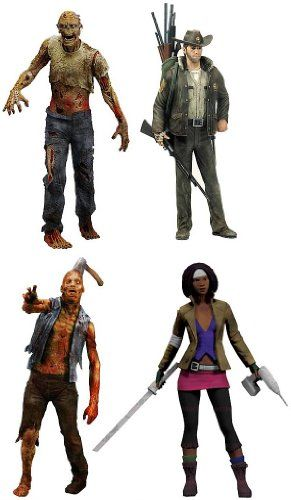 McFarlane Toys The Walking Dead COMIC Series 1 Set of 4 Action Figures Officer Rick Grimes Michonne @ niftywarehouse.com #NiftyWarehouse #Zombie #Horror #Zombies #Halloween