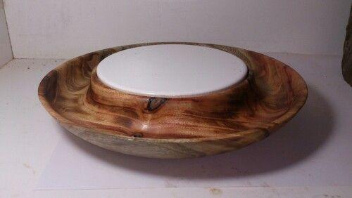 Cheese serving bowl, camphor laurel