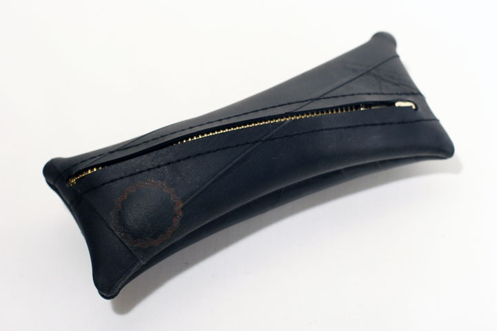 tomDK pencil case made from bicycle inner tube.
