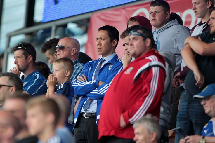 Cardiff City CEO Ken Choo stands among the fans at Shrewsbury Town   http://www.walesonline.co.uk/sport/football/football-news/shrewsbury-town-2-2-cardiff-city-9684667