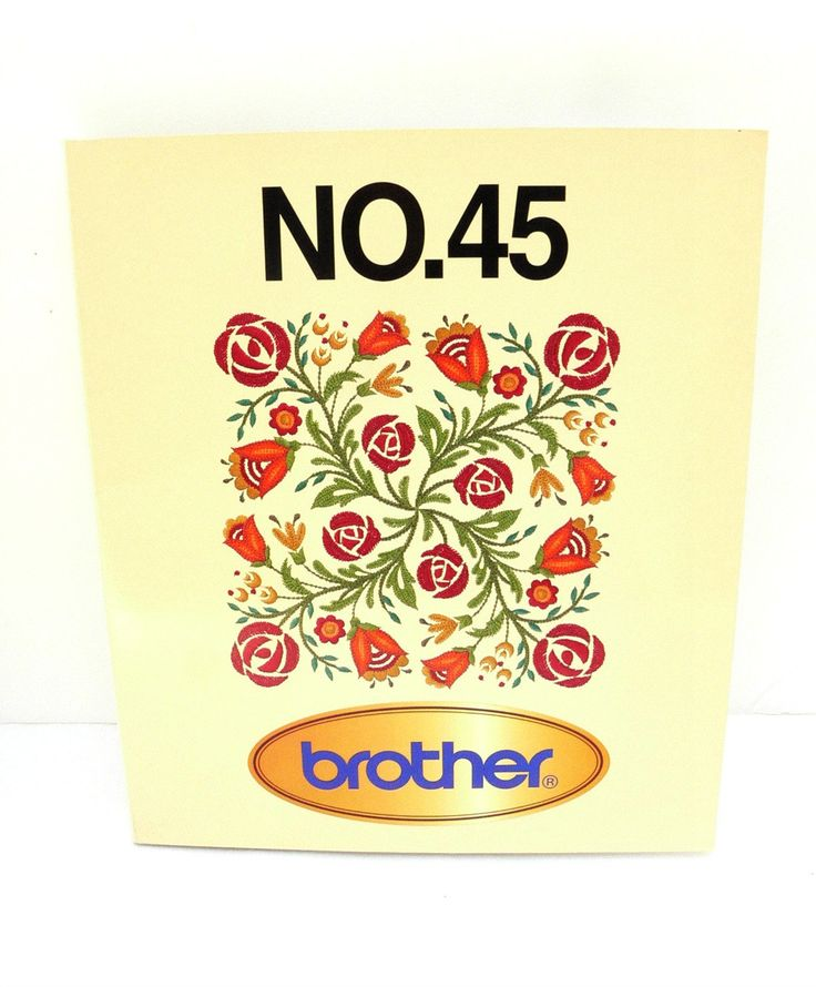 Brother Embroidery Card - Fancy Work No. 45 - Memory Card by TheEclecticBazzar on Etsy