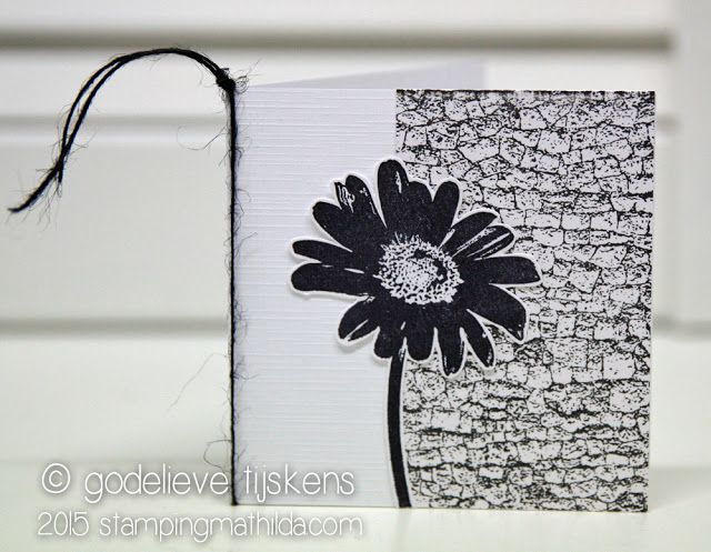 StampingMathilda: Black & White - Darkroom Door Daisy Eclectic Stamp and Stone Background Stamp.