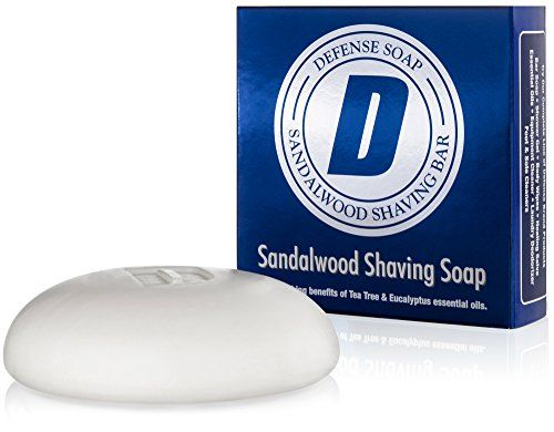 Defense Soap Sandalwood Shaving Soap 35 Ounce Bar with Aloe Vera Cocoa Butter Tea Tree Oil and Eucalyptus Oils ** Check out this great product.